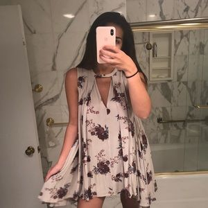 Floral Free People Tunic Dress size XS
